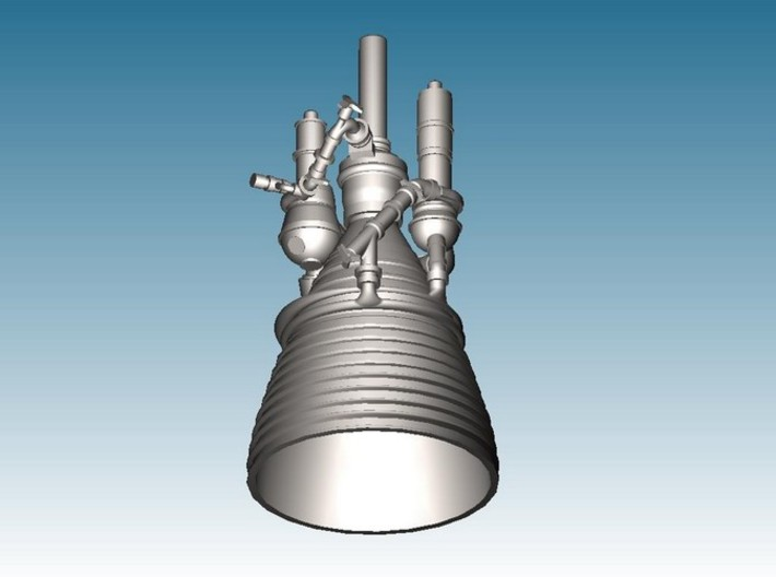 J-2 Engine (1:72) for Saturn IB or V 3d printed CAD Render