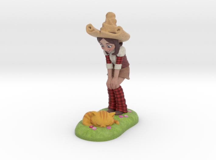Pepper & Carrot Figurine 3d printed