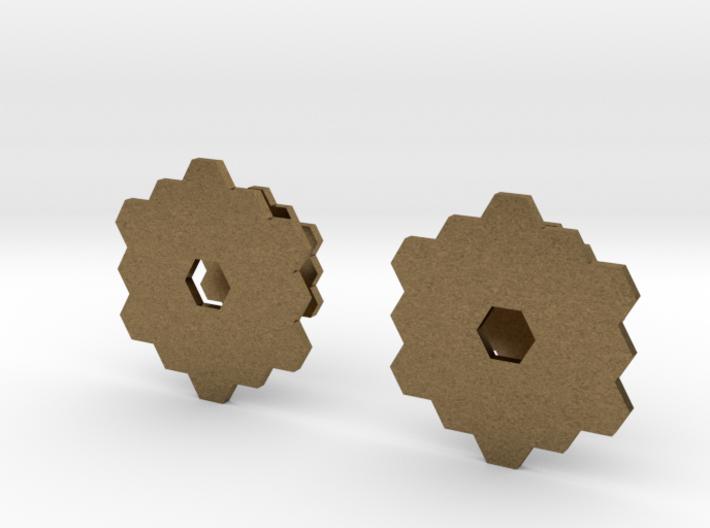 James Webb Space Telescope Cuff Links 3d printed