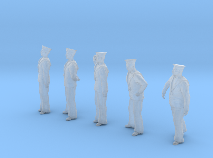 1-48 Royal Navy Sailors Set1-1 3d printed