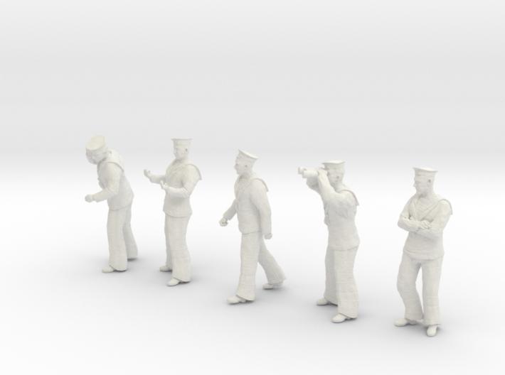 1-30 Royal Navy Sailors Set1-2 3d printed
