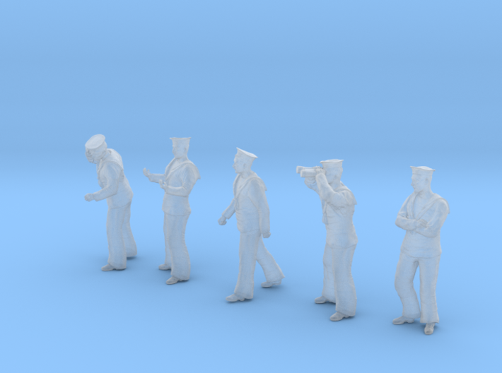 1-35 Royal Navy Sailors Set1-2 3d printed