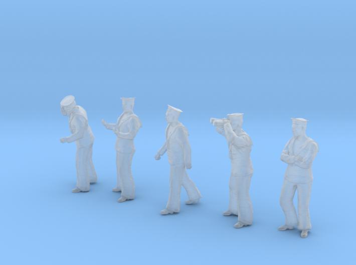 1-56 Royal Navy Sailors Set1-2 3d printed