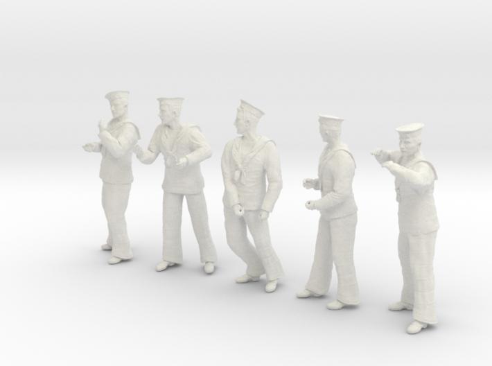 1-30 Royal Navy Sailors Set1-3 3d printed