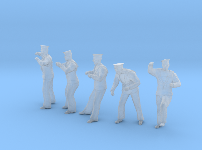 1-48 Royal Navy Sailors Set1-4 3d printed