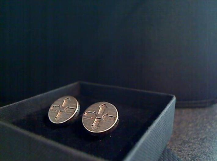 Router Puck Network Cuff links 3d printed SS1