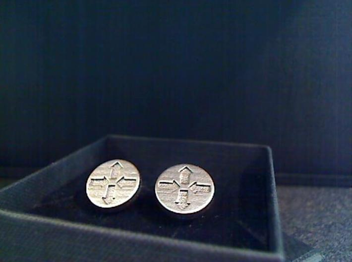 Router Puck Network Cuff links 3d printed SS2