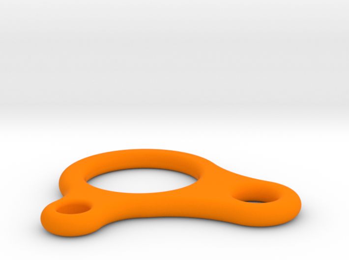 Quick-Knot rope adjuster for tents 3d printed