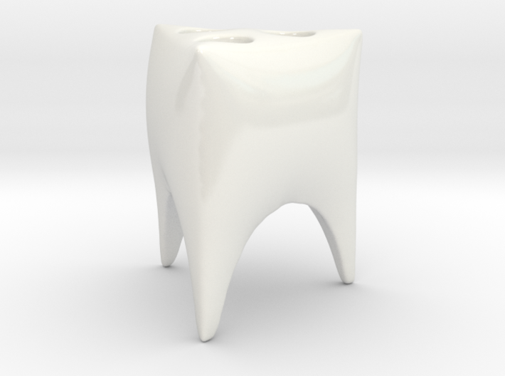 Toothy Triangle toothbrush holder 3d printed
