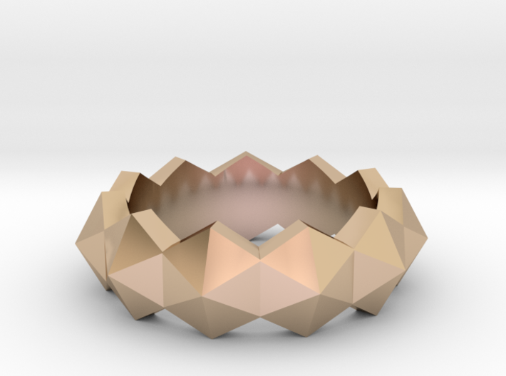 hexagon stud ring 3d printed