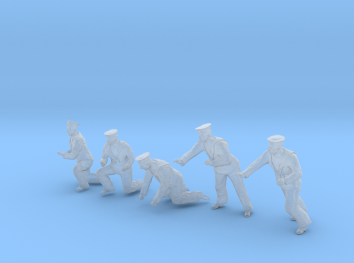 1-48 Royal Navy Sailors Set1-5 3d printed