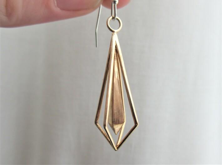 Geometric chic earrings 3d printed