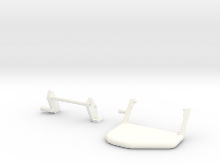 Moveable step rear bumper D90 D110 Team Raffee 3d printed