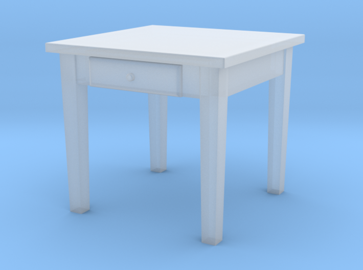 TT Kitchen Table Square- 1:120 3d printed