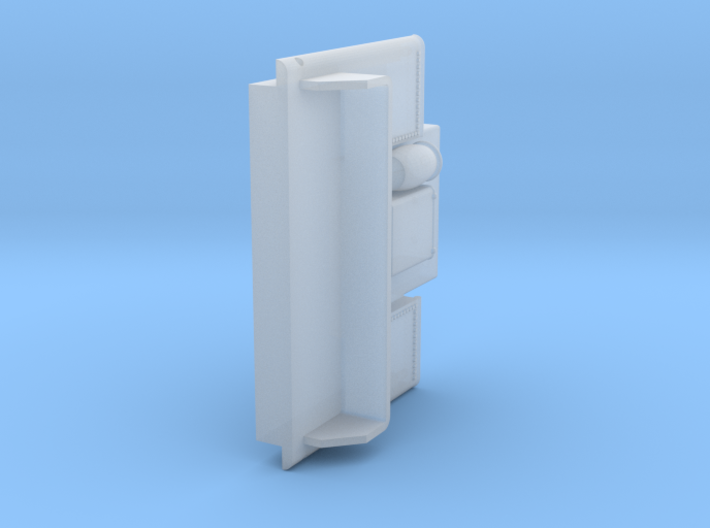 ATSF TENDER, 15000 gallon, front side 3d printed
