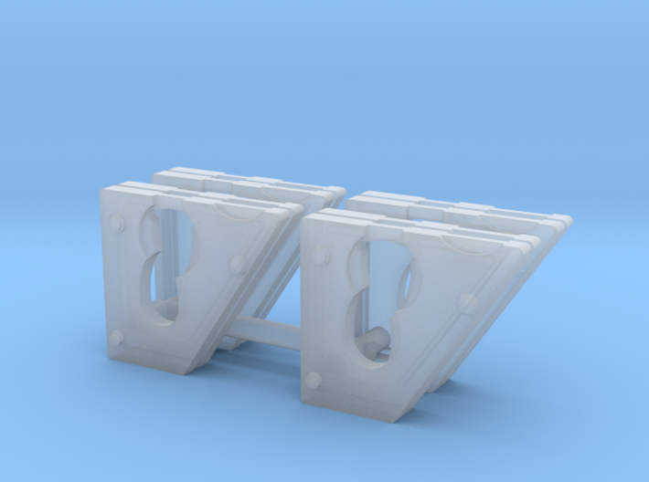 Cheek weights for 1:50 DM 242D/259D skid steers 3d printed