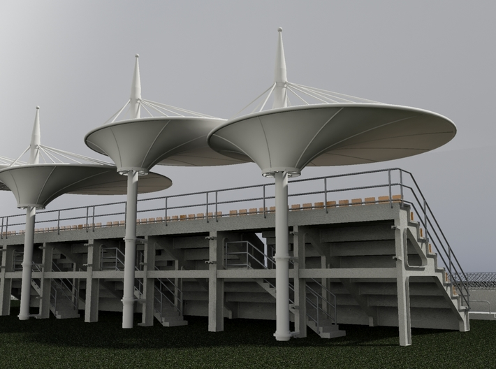 Roof for the grandstands - scale 1/32 3d printed Example with grandstand (not included)