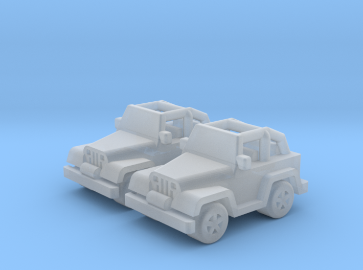 Jeep cars 18mm (2 pcs) 3d printed