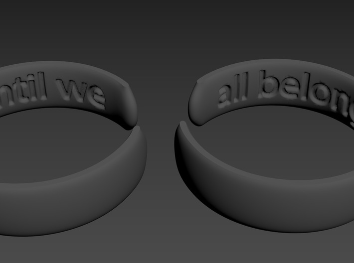 Until we all belong 3d printed