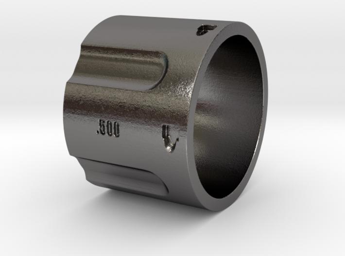 500 5-Shot Revolver Cylinder, Ring Size 12 3d printed