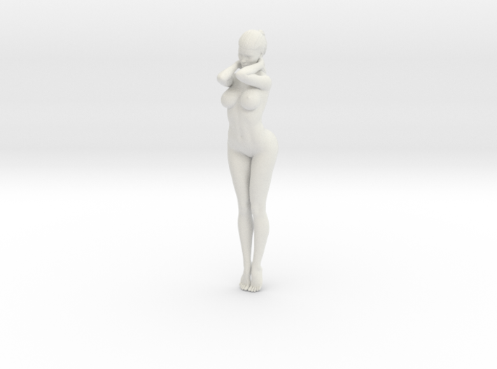 Long Ponytail Girl-031 3d printed