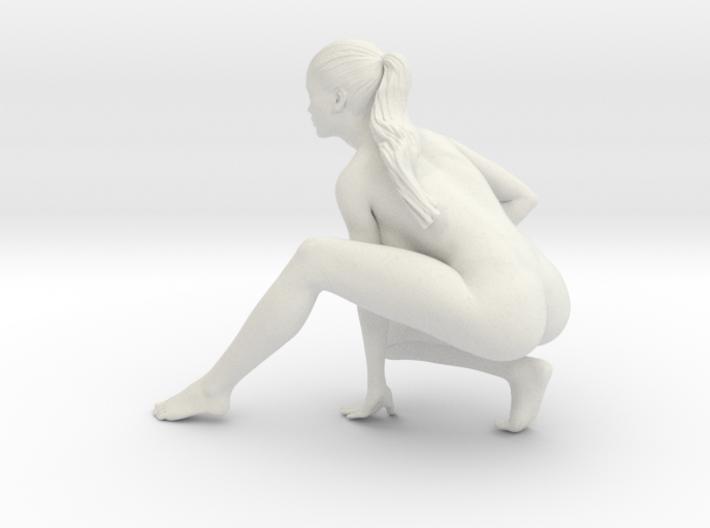 Long Ponytail Girl-051 3d printed