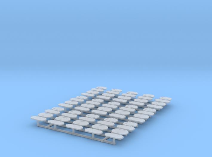 1/100 DKM Side Scuttles Set 3d printed