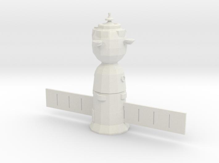 Soyuz TMA Spaceraft (Low-Poly) - 1/144 Scale 3d printed