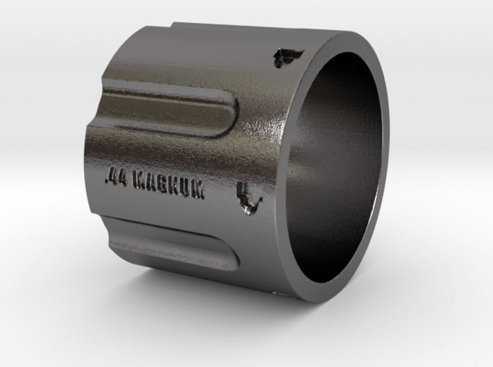 44 Magnum Cylinder XL, 20mm Tall, Ring Size 12 3d printed