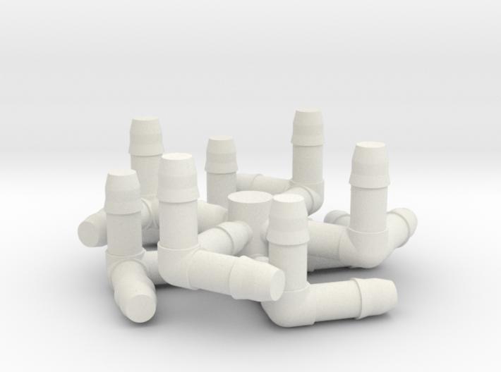 Cube Milk Straw Connectors 3d printed