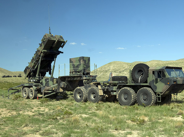Patriot Missile System Convoy 1/350 Scale 3d printed