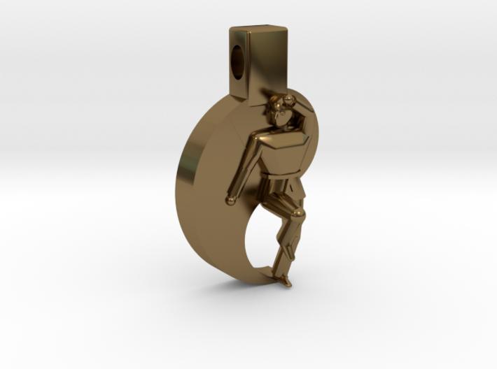 Pendant - (small) Keumgang W Taegeuk 3d printed