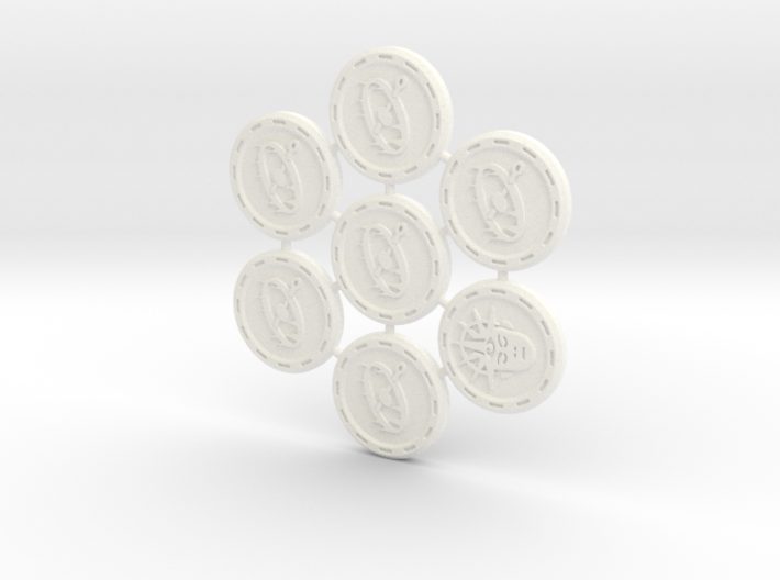 Descent Trap & Insight tokens - TF (7 pcs) 3d printed