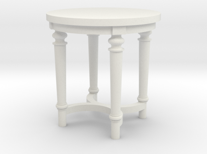 1:48 French Country Side End Table 3d printed