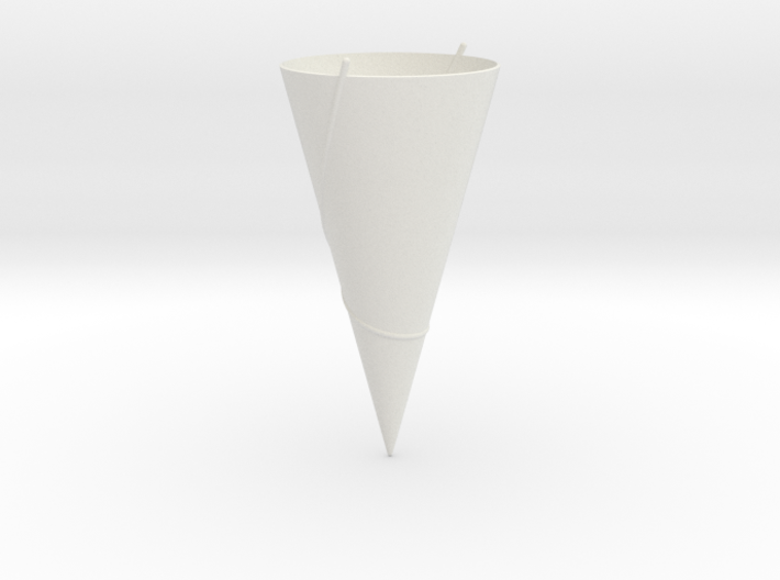 90 Degree Cone: Geodesics 3d printed