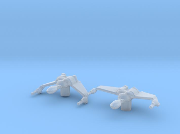 Klingon Bird-of-Prey 1/7000 Attack Wing x2 3d printed