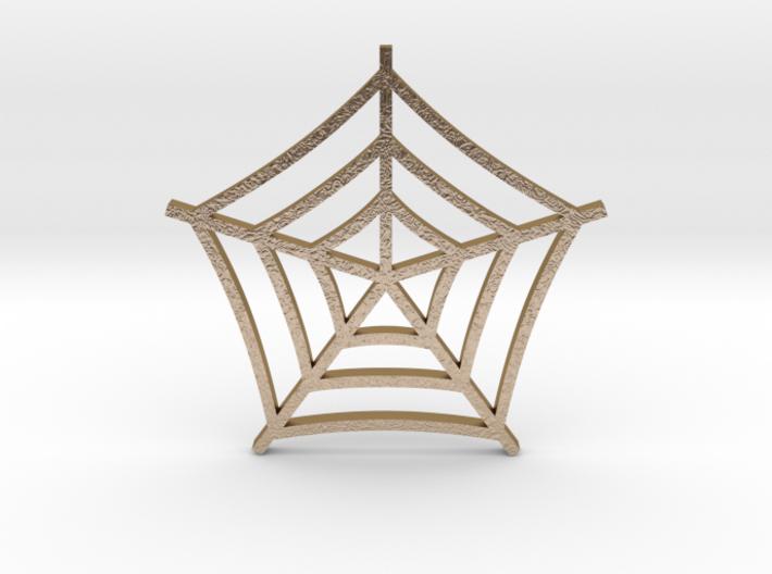 Cobweb Pendant 3d printed