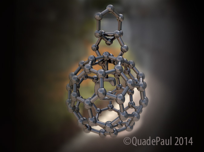 Buckyball necklace 3d printed