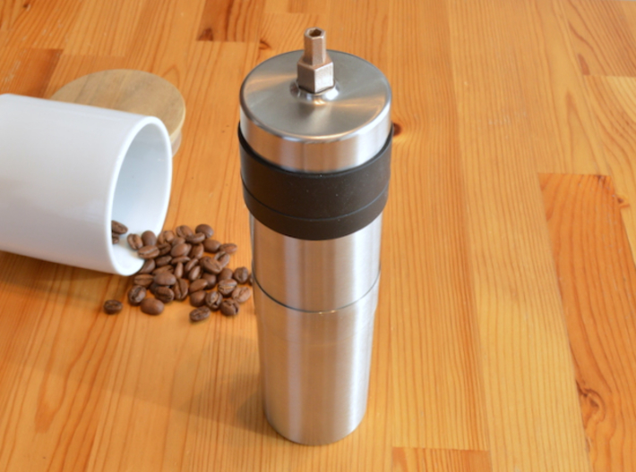 Coffee Grinder Bit For Drill Driver CDP-RE 3d printed With Porlex Stainless Steel Coffee Grinder