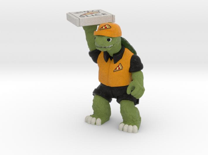 Day-Job Tortoise, Food Service (Sandstone) 3d printed