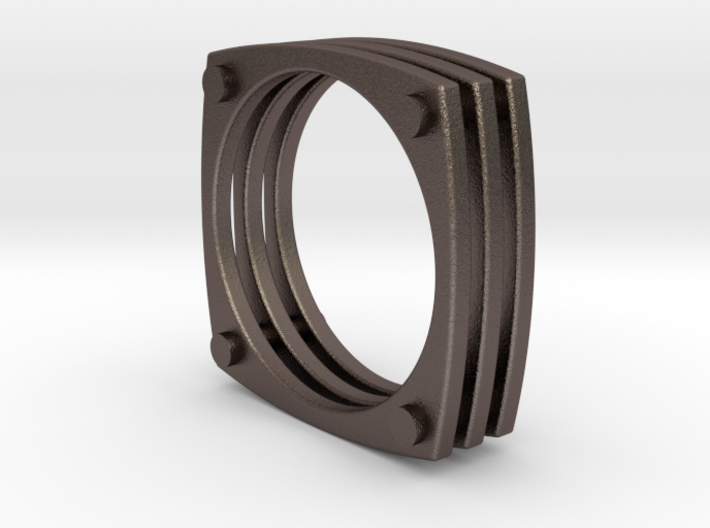 Squircle Studded Ring Size 10 3d printed