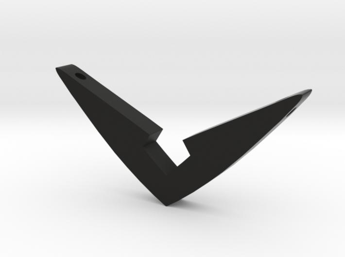 V Pendant Medium (1.5 inch) 3d printed Support your favorite Black Paladin.
