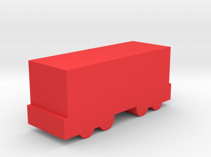 Game Piece, Freight Train Box Car 3d printed