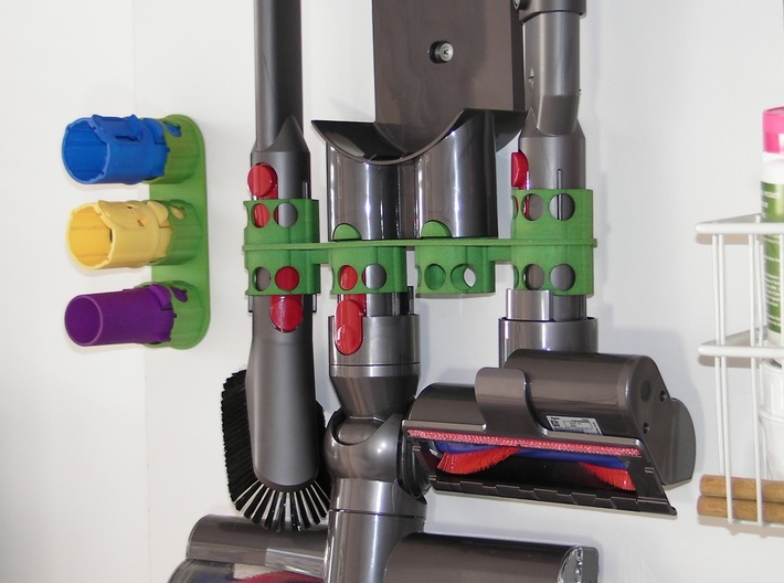 For Dyson V8, Left BIG Wall Adapter 3d printed The BIGGER version shown