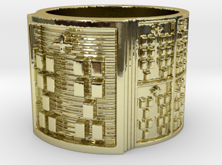 BABA OTRUPON MEYI Ring Size 13.5 3d printed