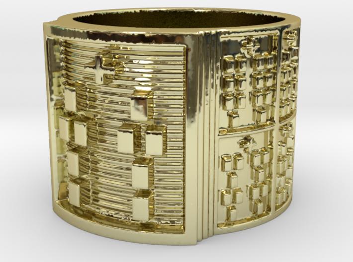 BABA OTURA MEYI Ring Size 13.5 3d printed