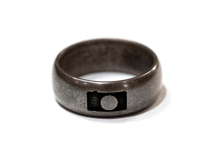 Photography Ring 3d printed Stainless Steel (hand polished)