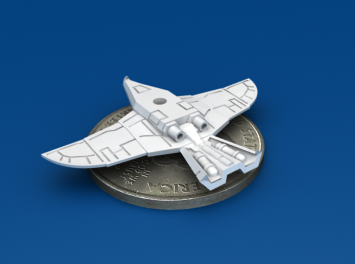 War Hawk Fighter, 4-pack 3d printed Back-Bottom 3/4 View