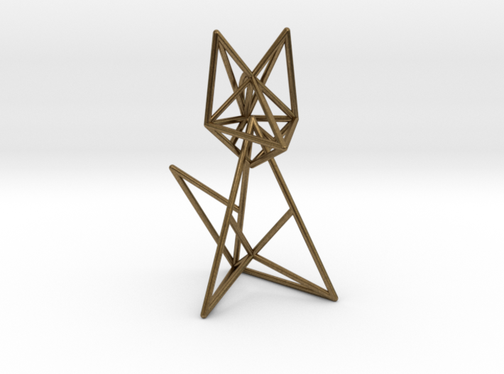 Wireframe fox 3d printed