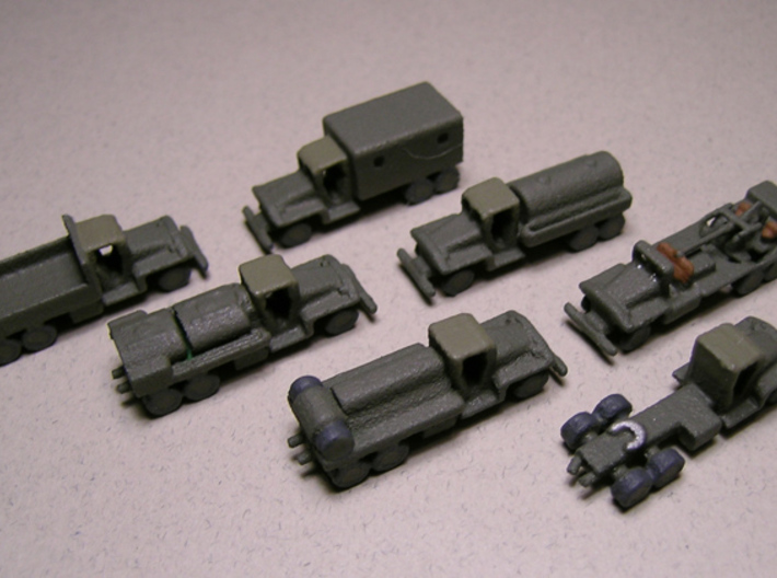 1/200 Scale CCKW Truck Set Of 7 3d printed